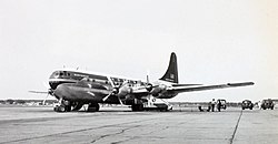 Boeing 377 Stratocruiser (Northwest AL) on ramp.jpg