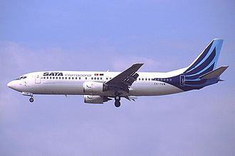 Azores Airlines - A former SATA Internacional Boeing 737-400 in the airline's first livery