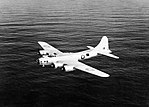Boeing Fortress Mk IIA of No. 220 Squadron RAF based at Benbecula in the Outer Hebrides, in flight over the Atlantic Ocean, May 1943. CH11143.jpg