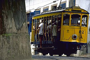 Rail transport in Brazil - Santa Teresa Tram in Rio de Janeiro.