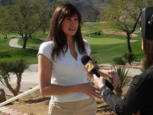 Congresswoman Mary Bono (CA-45) is interviewed...
