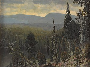 Apollinary Vasnetsov - Boreal forest in the Urals mountains by Apollinary Vasnetsov