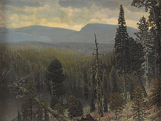 Apollinary Vasnetsov - Image: Boreal forest in the Urals mountaing