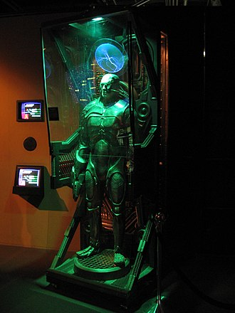 "Borg - An occupied Borg ""alcove"" prop on display at the Hollywood Entertainment Museum"