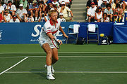 Boris Becker in action