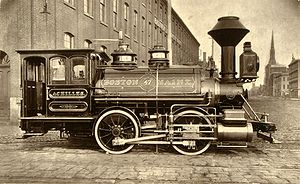 Boston and Maine Corporation - Woodburytype of 0-4-0 Achilles, Baldwin Locomotive Works, 1871
