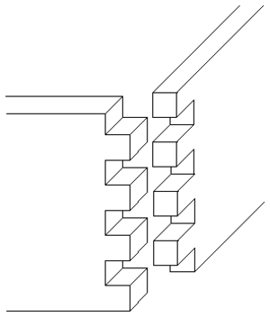 Finger joint - Finger joint or box combing