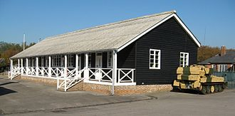 Aldershot Garrison - Historic wooden barrack bungalow, now part of the Aldershot Military Museum