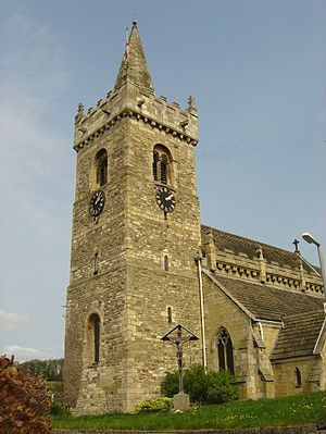 Bramham, West Yorkshire - All Saint's Church, which dates back to Norman times.
