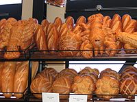 This is a photograph of some :en:Boudin Bakery...