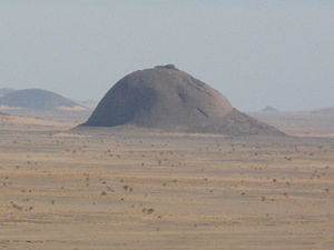 Inselberg - An inselberg in Western Sahara