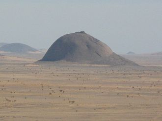 Breast-shaped hill - A breast-shaped hill in the Western Sahara.