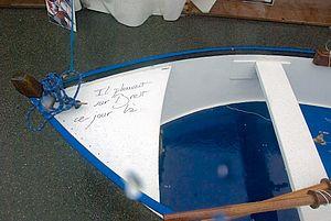 la barque sous la pluie brestoise