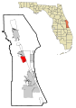 Brevard County Florida Incorporated and Unincorporated areas Rockledge Highlighted.svg