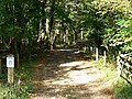 Bridleway into Oaker's Wood, near Briantspuddle - geograph.org.uk - 587732.jpg