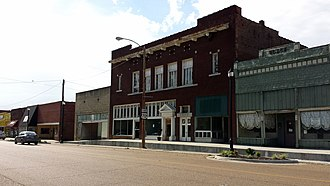 Monroe County, Arkansas - Streetside in downtown Brinkley