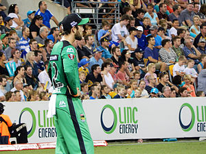 Glenn Maxwell - Glenn Maxwell during a BBL match while playing for Melbourne Stars