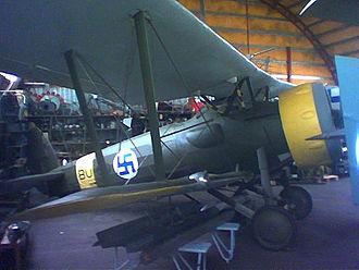Bristol Bulldog - Bristol Bulldog preserved at the Hallinportti Aviation Museum.