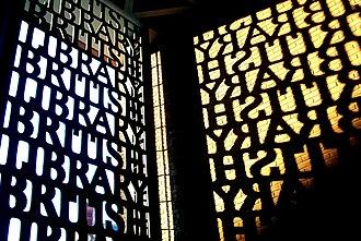 David Kindersley - The British Library entrance gate and shadow.