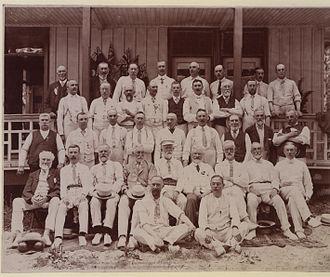 Bowls - British bowls team visiting Canada, 1906