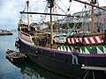 Brixham - Touching Up The Golden Hind - geograph.org.uk - 1623553.jpg