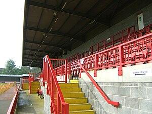 Broadfield Stadium - Broadfield Stadium - West stand