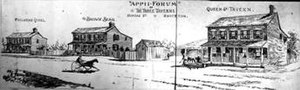 Brockton Village - 'Appii Forum', three taverns on Dundas at the tollgate