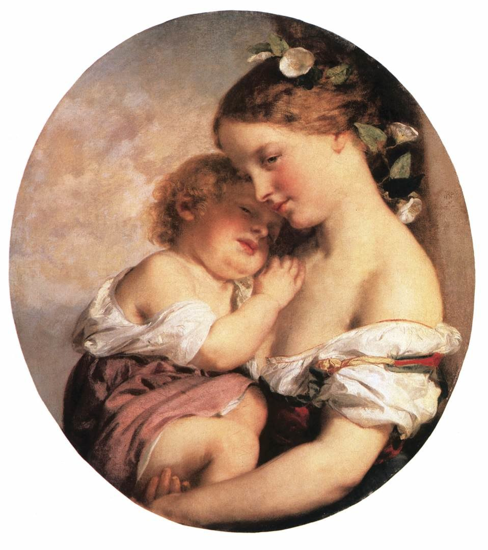 Brocky, Karoly - Mother and Child (1846-50)