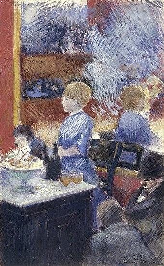 Brooklyn Museum - The Bar at the Folies-Bergère (Le Bar aux Folies-Bergère) - Jean-Louis Forain - overall