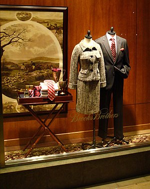 A picture of a display in Brooks Brothers
