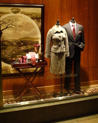 Brooks Brothers - A display in a Brooks Brothers store