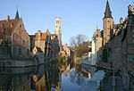 View of Bruges' city centre