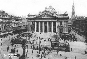 Brussels Stock Exchange - The Bourse in the 1920s