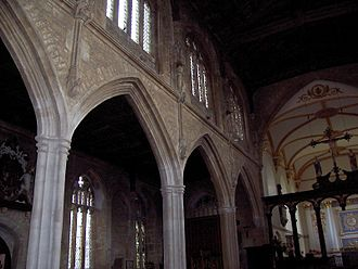 Church of St Mary, Bruton - Image: Bruton Church nave and chancel