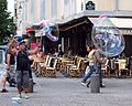 Bubble man in the rue St. martin, Paris, France..jpg