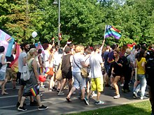 Even though the day had started with a counter parade against homosexuals, the Gay Fest parade ended