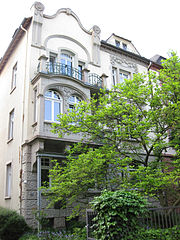 The house where Rudolf Koch lived, one of the art deco houses in the southwestern part of the town