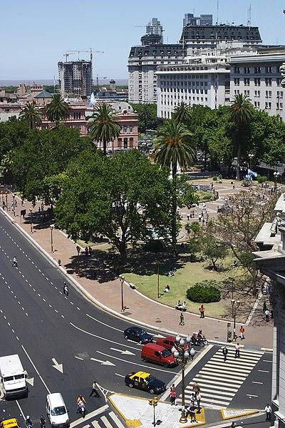 Vista de la Plaza de Mayo