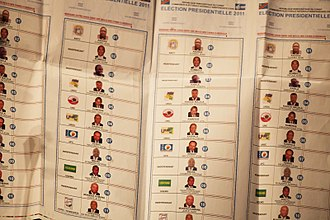 2011 Democratic Republic of the Congo general election - Voting cards for the 2011 election