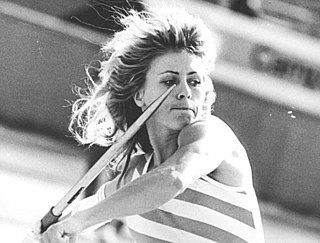 Petra Felke East German javelin thrower