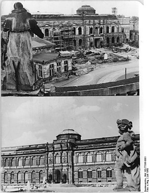 Semper Gallery - The Semper Gallery after its destruction in 1945