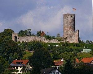 Burg Mellnau – Südseite der Burganlage (2007)