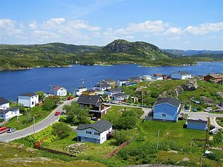 Burgeo Town in Newfoundland and Labrador, Canada