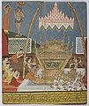 Burma, mid 19th century, Mahākassapa paying homage to the Buddha's feet.jpg