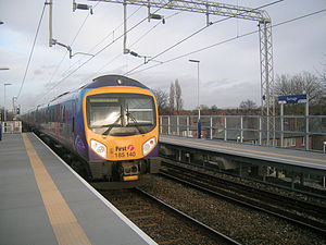 Burnage railway station - Image: Burnage railway station 1
