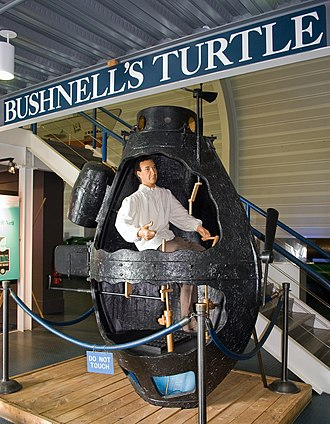 Submarine Force Library and Museum - Image: Bushnell Turtle model US Navy Submarine Museum