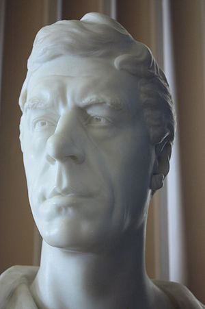 Henry Brougham, 1st Baron Brougham and Vaux - Bust of Henry Brougham, Lord Brougham, 1851, by Christopher Moore, Old College, University of Edinburgh