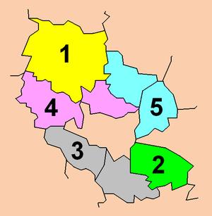 Bydgoszcz County - Electoral districts.