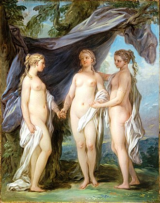 Charites - The Three Graces, from Carle van Loo (1763)