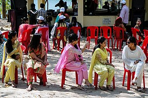 Musical chairs - Women playing musical chairs in Bangladesh